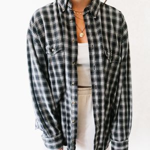 Vintage Oversized Button Up Flannel
